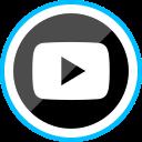 corporate, logo, media, play, social icon