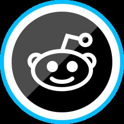 corporate, logo, media, reddit, social icon