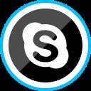 corporate, logo, media, skype, social icon