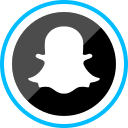 corporate, ghost, logo, media, snapchat, social icon