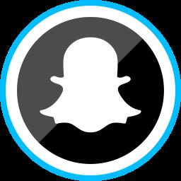 corporate, ghost, logo, media, snapchat, social icon