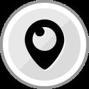 corporate, logo, media, periscope, social icon