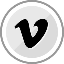 corporate, logo, media, social, vimeo icon