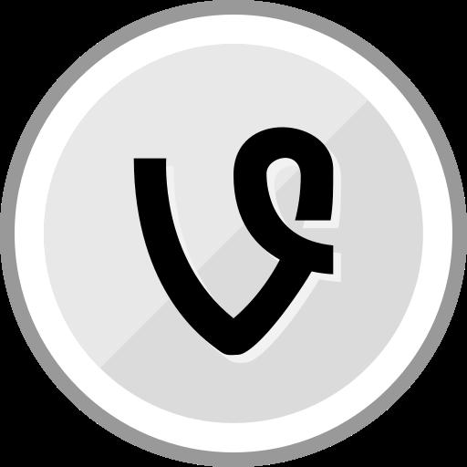 corporate, logo, media, social, vine icon