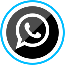 corporate, logo, media, social, whatsapp icon