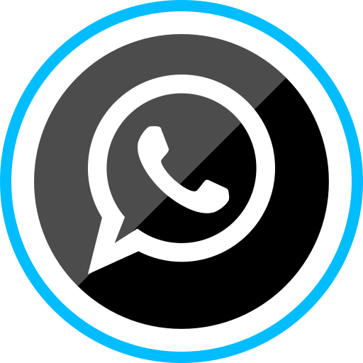 corporate, logo, media, social, whatsapp icon