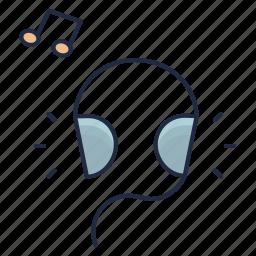 audio, headphones, music, noise, note, sound, volume icon