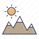 environment, hills, land, mountain, nature, outdoor, peak icon
