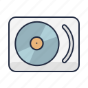 audio, dj, hipster, music, player, turntable, vinyl icon