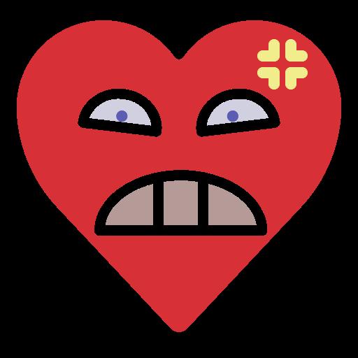 angry, emoji, emotion, heart, mad icon