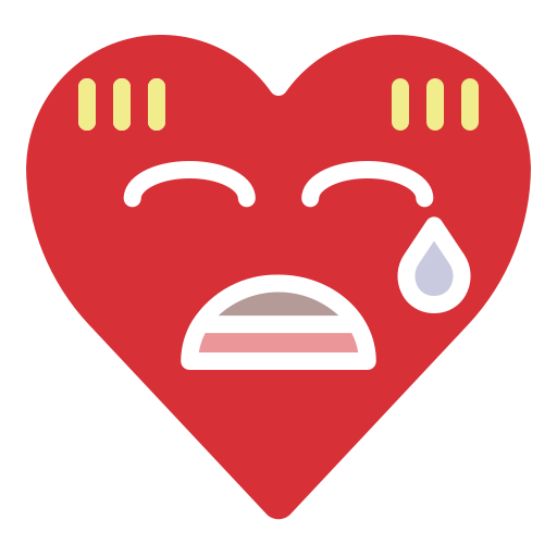 confused, emoji, emotion, heart, nervous, worry icon