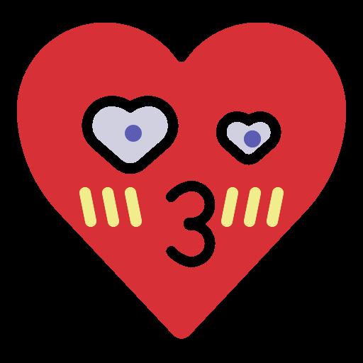crush, emoji, emotion, heart, kiss, love icon