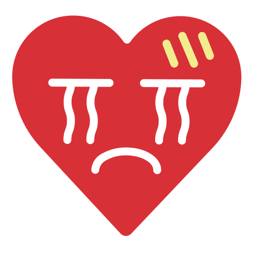 cry, emoji, emotion, grief, heart, sad icon