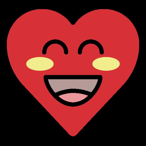 emoji, emotion, happy, heart, smile icon