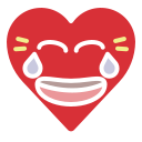 emoji, emotion, funny, heart, joke, laugh icon