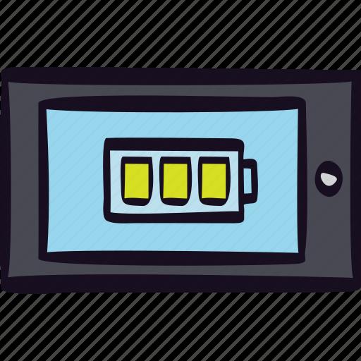 app, battery, full, mobile, tablet icon