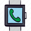 app, call, media, mobile, phone, smartwatch icon