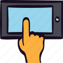 app, finger, hand, media, mobile, tablet, touch icon