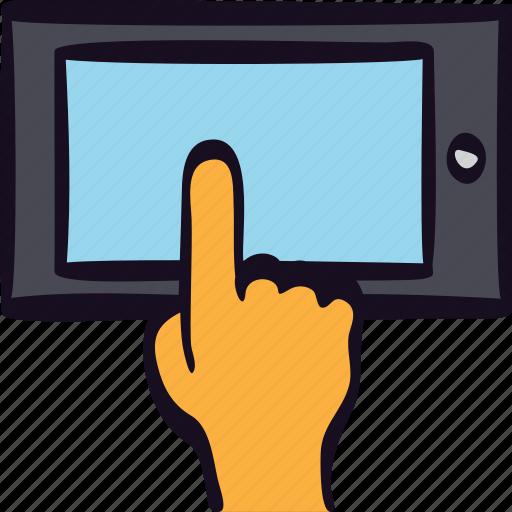 app, finger, hand, media, mobile, tablet, touch icon