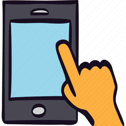 app, hand, mobile, smartphone, touch icon