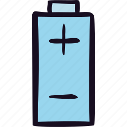 battery, charge, energy, negative, positive icon