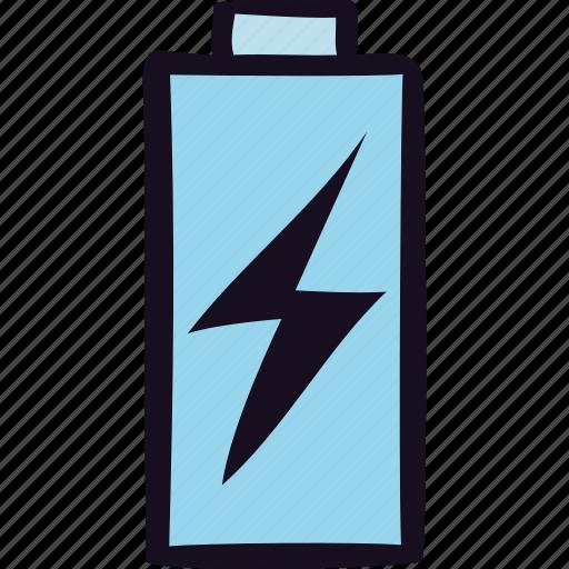 battery, bolt, charge, energy, lightbolt, power icon