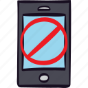 blocked, forbidden, iphone, lock, phone, smartphone icon