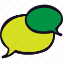 bubble, chat, conversation, dialogue, phone, talk icon
