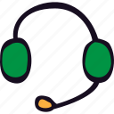 call, center, headphone, headphones, headset, mic, telephone icon