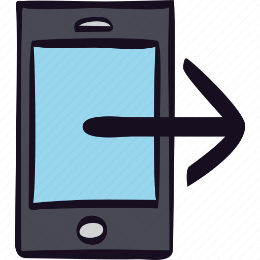 call, communication, iphone, outgoing, phone, smartphone icon