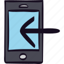 call, device, incomming, mobile, phone, smartphone icon