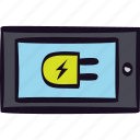 charger, charging, connected, power, tablet icon