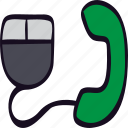 call, click, communication, mouse, phone, to icon