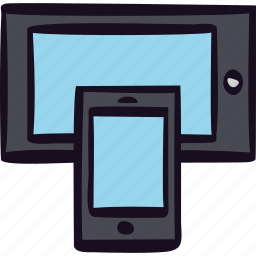 device, electronic, media, mobile, online, smartphone, tablet icon