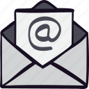email, etter, inbox, mail, message, post, send icon