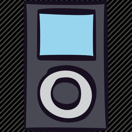 ipod, mp3, music, player, sound icon
