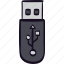 drive, file, pendrive, storage, usb icon