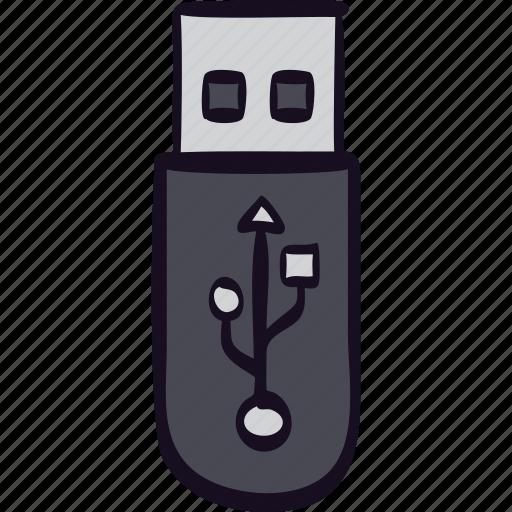drive, file, pendrive, storage, usb icon