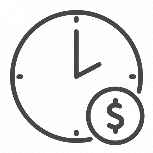cost, freelance, hour, part time, rate, time icon