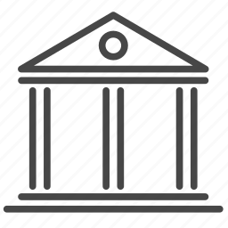 bank, court, finance, financial, freelancer icon