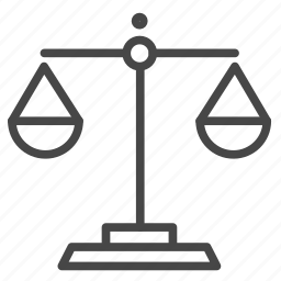 counselor, freelancer, judge, law, lawyer, scales icon