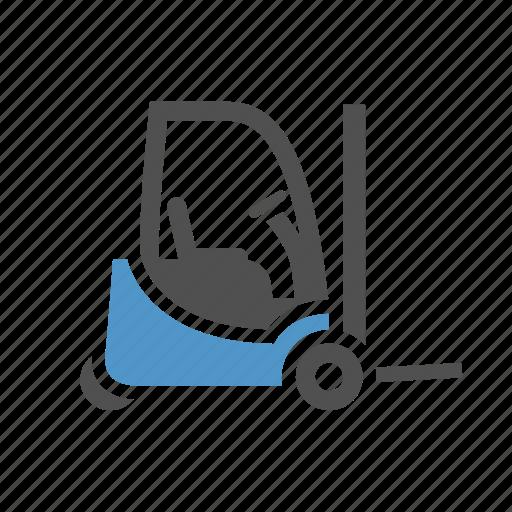 cargo, deliver, forklift, freight, loader, transport, truck icon