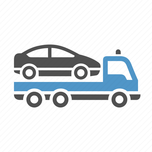 car, deliver, evacuator, freight transport, tow truck, vehicle icon