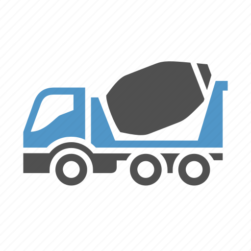 cargo, cement, concrete mixer, deliver, freight transport, truck, vehicle icon