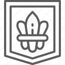 arm, coat, de, fleur, france, heraldic, lis icon