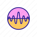 audio, contour, frequency, sound, speaker, wave icon
