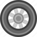 cogwheel, run, transport, transportation, vehicle, wheel icon