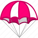 cargo, deliver, delivery, parachute, shipping icon