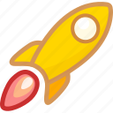 fast, lanuch, launch, missile, rocket, speed, start icon