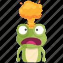 angry, emoji, emoticon, frog, mindblown, smiley, sticker